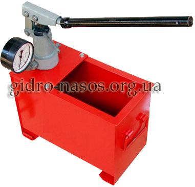 Ручная насосная установка для гидроиспытаний давлением